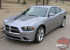 Front Angle View of Dodge Charger With Stripes RECHARGE 2011 2012 2013 2014