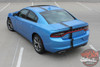 Front angle view 2018 Dodge Charger Euro Stripes E RALLY 15 2015-2020 2021