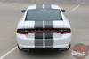 Rear view of N-CHARGE RALLY 15 | Dodge Charger Racing Stripes Hood Decal Roof Bumpers Vinyl Graphic fits 2015-2020 2021