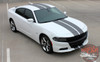 Front angle view of 2018 Dodge Charger Blacktop Stripes N-CHARGE 15 2015-2020