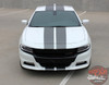 Front view of 2020 2021 2018 Dodge Charger Blacktop Stripes N-CHARGE 15 2015-2020 2021