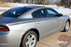 Rear View of 2015 Dodge Charger Vinyl Graphics RIVE KIT 2015-2020 2021