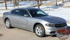 Side View of RIVE | Dodge Charger Hood Spike Stripes and Rear Panel Side Decals fits 2015-2020 2021