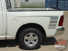 Profile View of White Ram 1500 Power Decals POWER TRUCK KIT 2009-2016 2017 2018