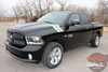 Front Angle View of Black 2017 Ram Fender Decals DOUBLE BAR 2009-2018 2019