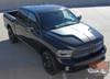 Front of Black 2018 Dodge Ram Hemi Hood Decals HEMI HOOD 2009-2016 2017 2018