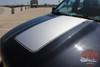 Front View of Dodge Ram 1500 Hood Stripes RAM RAGE HOOD 2009-2017 2018
