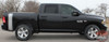 Profile View of Black 2016 Dodge Ram Vinyl Graphics RUMBLE KIT 2009-2019