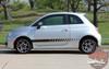 Profile of 500 STROBE ROCKER Fiat 500 Abarth Side Stripes 2012-2019