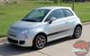 Profile of Fiat Abarth Decals 500 STROBE ROCKER 2012-2016 2017 2018 2019