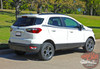 View of Side Stripes on Ford EcoSport AMP SIDE KIT 2018-2020