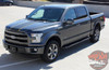 Front angle view of 2017 Ford F150 Center Decals BORDERLINE 2015 2016 2017
