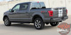 Rear Side View of 2016 F150 Rally Stripes F RALLY 2015 2016 2017