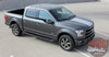 Side View of 2017 Ford F150 Rally Stripes F-RALLY KIT 2015-2017