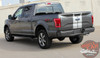 Rear Side View of 2017 Ford F150 Rally Stripes F-RALLY KIT 2015-2017