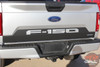 Tailgate view of Ford F150 Tailgate Letters Reverse Blackout Stripes 2018-2020