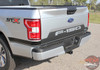 Tailgate view of 2019 F150 Tailgate Stripes 2018 2019 2020 Letters Reverse