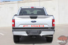 Close up of silver 2018 Ford F150 Rear Tailgate Decals Blackout Letters 2018-2020