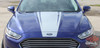 Close up of 2018 Ford Fusion Hood Decals DAGGER HOOD 2013-2017 2018