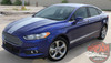 Side View of Ford Fusion Lower Side Graphic Stripes DAGGER 2013-2018
