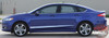 Profile View of 2017 Ford Fusion Lower Rocker Graphic Stripes DAGGER 2013-2018