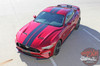 Top View of 2018 Ford Mustang Rally Stripes STAGE RALLY 2018-2019