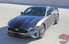 Side profile view of 2019 2018 Ford Mustang Convertible Vinyl Graphics EURO RALLY