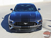 Front view of 2019 2018 Ford Mustang Convertible Vinyl Graphics EURO RALLY