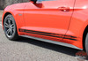 Driver side View of 2015 Ford Mustang Rocker Panel Stripes 2015 2016 2017 BREAKUP
