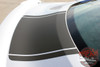 Rear of Silver Ford Mustang Wide Center Vinyl Graphics MEDIAN 2015 2016 2017