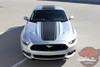 Front of Silver Center Stripes for 2017 Ford Mustang MEDIAN 2015 2016 2017