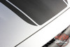 Front of Silver Ford Mustang Wide Top Stripe Decals MEDIAN 2015 2016 2017