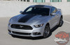 Front of Silver 2016 Ford Mustang Wide Stripe Decals MEDIAN 2015 2016 2017