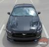 Front view 2017 Ford Mustang Wide Hood Stripe MEGA HOOD 2015-2016-2017