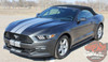 Front View of Ford Mustang Dual Racing Stripes STALLION SLIM 2015 2016 2017