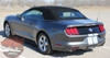 Rear View of Ford Mustang Slim Racing Stripes Decals STALLION SLIM 2015-2017