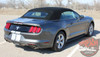 Rear View of Ford Mustang Dual Racing Stripes STALLION SLIM 2015 2016 2017