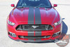 Front View of Ford Mustang Slim Racing Stripes Decals STALLION SLIM 2015-2017