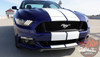 Front View of 2016 Ford Mustang Dual Racing Stripes STALLION 2015-2017