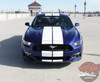 Front View of 2016 Ford Mustang Racing Stripes STALLION 2015 2016 2017
