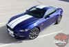 Front Side View of 2017 Ford Mustang Racing Stripes STALLION 2015 2016 2017