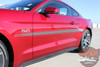 Close view 2015 Mustang GT Side Stripes LANCE 2016 2017 2018