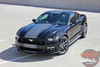 Side View of 2016 Ford Mustang Vinyl Stripes CONTENDER 2015-2017