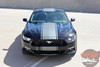 Front View of 2016 Ford Mustang Vinyl Stripes CONTENDER 2015-2017