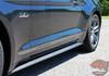 Close view of Ford Mustang Fade Tri-Line Rockers Stripes TRILINE ROCKER 2015-2018 Digital Print Vinyl