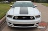 Hood View 2013 Ford Mustang Vinyl Stripes FLIGHT 2013-2014