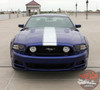 Front View for 2014 Ford Mustang Hood Side Decals PRIME 2 2013-2014