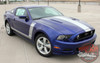 Front View for Center Hood and Side Stripes for Mustang PRIME 2 2013-2014