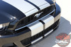 Front View of 2014 Ford Mustang Graphic Kits THUNDER 2013-2014