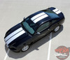Top View of 2013 Ford Mustang Dual Racing Stripes THUNDER 2013-2014